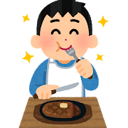 syokuji_steak_man